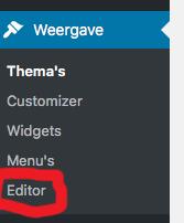 Ga gaan de bestanden editor om je Google Analytics code toe te voegen