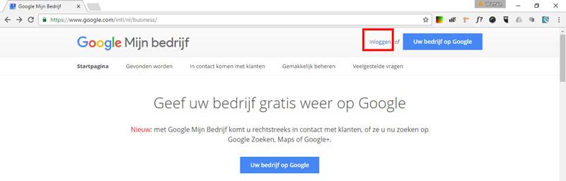 Google Bedrijfspagina instellen